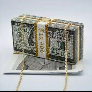 Handbags - Bling Money Clutch